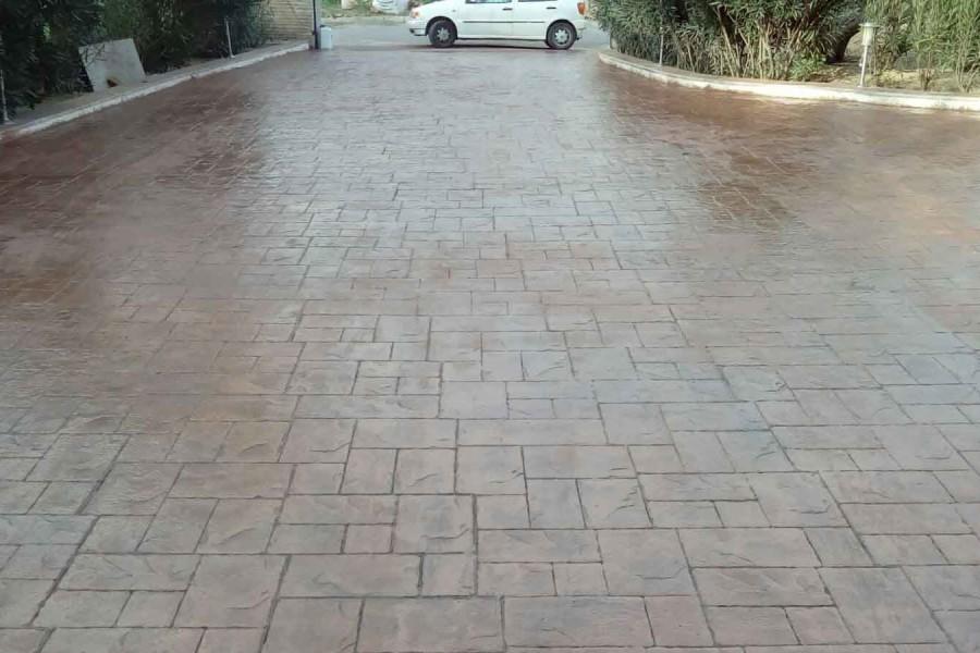 Pavimentos de hormig n pulido hormig n impreso alicante y - Pavimento impreso precio m2 ...